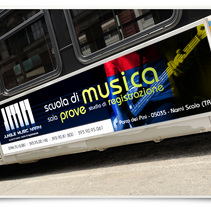 JMN music school. A Advertising, Art Direction, Br, ing&Identit project by Andrea Pettirossi         - 08.09.2014