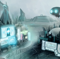Ciudad Ciberpunk - Twisted Future. A Illustration project by Chris Borland         - 21.09.2014