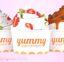 Yummy - frozen yogurt (fake brand commercial) // Yummy, anuncio de una falsa marca de yogurt helado. Un proyecto de Publicidad, Motion Graphics, 3D y Animación de Fran Alburquerque         - 14.09.2014