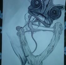 Camaleón. Um projeto de Ilustração de Abel Belmonte LLedó         - 24.09.2014
