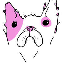 French Bull Dog. A Design, Illustration, Graphic Design, and Painting project by Cristina  Romano Rodriguez - 01-10-2014