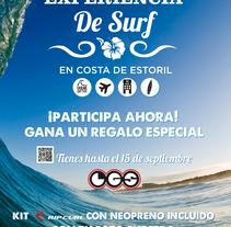 Diseño Cartel Experiencia de Surf. A Design project by Jose Cañete Campin         - 14.10.2014