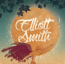 Ilustración para Music Lovers - Elliott Smith . A Illustration, and Graphic Design project by Sandra Martínez - Oct 17 2014 12:00 AM