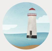 Lighthouses of England. Un proyecto de Ilustración y Diseño gráfico de Ana Rey - 23-10-2014