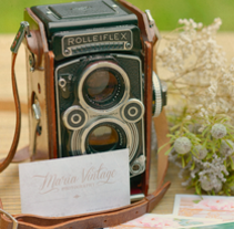 Maria Vintage Photography · Business Cards . A Br, ing, Identit, Design, Graphic Design, and Photograph project by Mapy D.H. - Oct 13 2014 12:00 AM