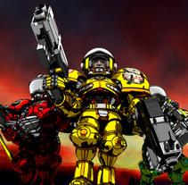 Marines. A Design, Illustration, and 3D project by Raúl Ruiz Sánchez - 28-10-2014