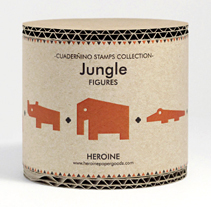 Jungle stamps set. A Illustration, Game Design, and Packaging project by Heroine Studio - 05-11-2014