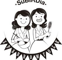 Creación de retrato-logotipo para Grupo musical. Un proyecto de Ilustración y Diseño gráfico de silviasaez         - 16.11.2014