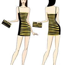 Diseños de seda- negro y dorado. Um projeto de Design, Ilustração e Moda de Gloria Rivera         - 16.11.2014