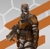Soldado futurista. A Character Design project by Julen Aranguren Valluerca         - 01.12.2014