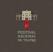 Festival de Teatro 2013. A Illustration, Graphic Design, and Web Development project by Carlos González Puchernau         - 03.12.2014