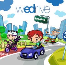 """Project Presentation: Audi App for children """"WeDrive"""". Un proyecto de Ilustración, Diseño de juegos y Multimedia de Jorge de Juan - 24-12-2014"""
