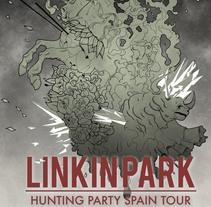 Ejemplo de Cartel de Linkin Park Hunting Party Spain Tour. A Illustration project by Carlos Tendero Casanova         - 28.12.2014