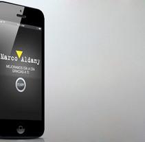 Marco Aldany App. Um projeto de UI / UX, Web design e Desenvolvimento Web de Ms. Barrons         - 04.01.2015