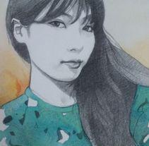 Hyuna portrait / Retrato de Hyuna . Um projeto de Artes plásticas de Laura Portolés Moret - 25-01-2015