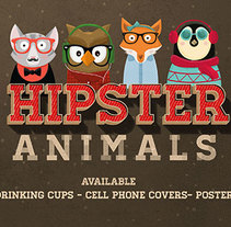 Hipster Animals. A Illustration project by Anna  Pujadas Baqué - 19-12-2014