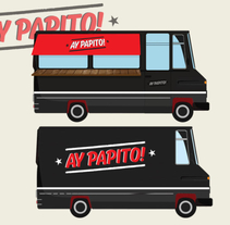 Ay papito. Foodtruck. A Design, Br, ing, Identit, and Automotive Design project by Anna  Pujadas Baqué - 28-01-2015