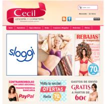 Cecil, tienda de lencería y corsetería. Un proyecto de Informática, Diseño de vestuario, Marketing, Diseño Web y Desarrollo Web de ALEJANDRO GIL GONZALEZ - 09-05-2013