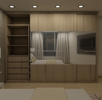 Bedrooms: Renders. A 3D, Architecture, Interior Architecture&Interior Design project by Gabriela Aldazoro         - 15.02.2015