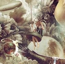 Collage lacabezaenlasnubes. Un proyecto de Collage, Dirección de arte y Diseño gráfico de Fran Rodríguez - Viernes, 20 de febrero de 2015 00:00:00 +0100