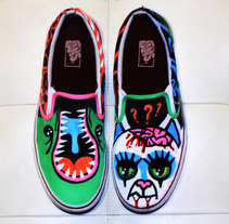 vans custom. A Illustration, Graphic Design, Lighting Design, and Shoe Design project by Alfredo Nunes De Andrade - 20-10-2012