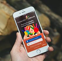 Diseño de la app para IOS ''Fundación Acércate''. A Graphic Design project by Paula Terrón Zambrano         - 09.12.2014