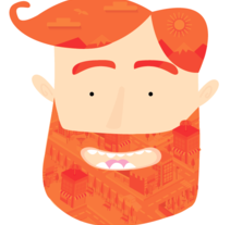 City on a Beard . A Character Design, and Graphic Design project by Karina Ramos         - 27.02.2015