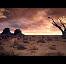 MattePainting y proyeccion - Desierto. A 3D, Animation, Post-Production, and Video project by Alvaro Pomareta Moratalla         - 04.03.2015