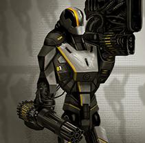 AssaultBot. A Illustration project by Cristian Kocak - 12-03-2015