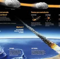 Infografía Asteroide ·ilustración editorial·. Un proyecto de Ilustración de Fernando Llorente - Domingo, 10 de febrero de 2013 00:00:00 +0100