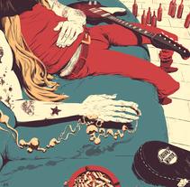 Tributo a Johnny Winter. A Illustration project by Juan Esteban Rodríguez - 03.24.2015
