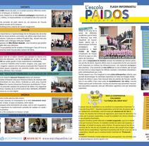 Díptic promocional escola Paidos. Un proyecto de Diseño editorial, Diseño gráfico, Educación, Eventos y Publicidad de David Rodríguez - 06.03.2015