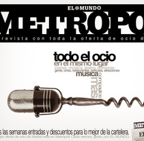 Metropoli. El Mundo. A Advertising, Photograph, Art Direction, Design Management, Editorial Design, and Graphic Design project by Jorge Hernández         - 15.04.2015