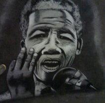Nelson Mandela. A Fine Art project by Andrés López         - 15.04.2014