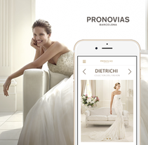 Página web responsive de Pronovias. A Design, Graphic Design, Web Design, and UI / UX project by Ulyana Kravets - 04.22.2015