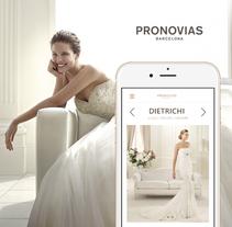 Página web responsive de Pronovias. Un proyecto de Diseño, UI / UX, Diseño gráfico y Diseño Web de Ulyana Kravets - 21-04-2015