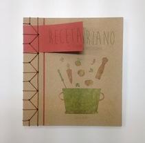 Recetario vegetariano handmade con encuadernación japonesa. Un proyecto de Diseño editorial y Diseño gráfico de Alicia  Menal  - 25-04-2015