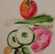 Restaurante vegetariano. Un proyecto de Ilustración de montse.mazorriaga         - 29.04.2015