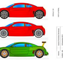BMW 2D Con AutoCAD. Um projeto de Ilustração, 3D, Arquitetura, Design de automóveis, Design de produtos e Design de brinquedos de Antonio Fernández Olombrada         - 17.11.2013