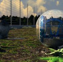 Gyrosphere (Jurassic World project). Un proyecto de Ilustración, 3D y Cine de Enrique Núñez Ayllón - 27-02-2015