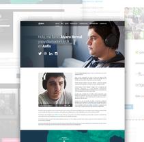 (Concepto antiguo) Web personal. Um projeto de UI / UX e Web design de Álvaro Bernal Nicolás         - 09.04.2014