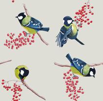 Pájaros. Ilustración técnica mixta. Un proyecto de Ilustración y Diseño gráfico de Ana Sánchez Tejedor         - 12.05.2015