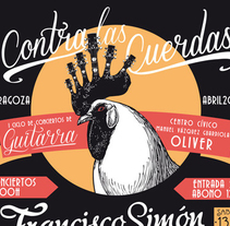 Contra las cuerdas, festival. A Illustration, and Graphic Design project by Saúl M. Irigaray         - 17.05.2015