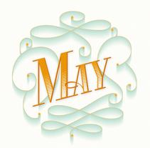 May. Un proyecto de Diseño gráfico, Tipografía y Caligrafía de Mercè Núñez Mayoral - 18-05-2015