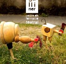 imagen gráfica para el 25 aniversario de El Galliner, escola de teatre. Um projeto de Design, Publicidade, Direção de arte, Br, ing e Identidade e Design gráfico de Marta Salvador Sánchez         - 21.02.2015
