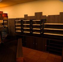 Previsualización tienda. Un proyecto de 3D, Arquitectura y Arquitectura interior de Luca Sorrusca         - 24.05.2015