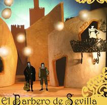 Proyecto escenográfico: Barbero de Sevilla.. Um projeto de Design de cenários de Irene Garcia Cruz         - 25.05.2015