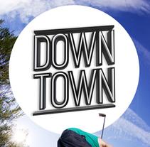 LOGOTIPO + PORTADA (Down Town Skate Mag). Um projeto de 3D, Br, ing e Identidade e Design editorial de Carlos Vidriales Sánchez         - 26.05.2015