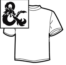 Diseño de Camisetas - Rol D&D. Um projeto de Design gráfico e Serigrafia de Mireya Capitaine         - 22.05.2015