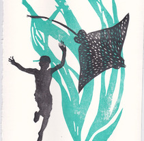 Mi Proyecto del curso Carvado de sellos y técnicas de estampación. Un proyecto de Ilustración y Serigrafía de Amaia Gómez Marzabal         - 02.06.2015